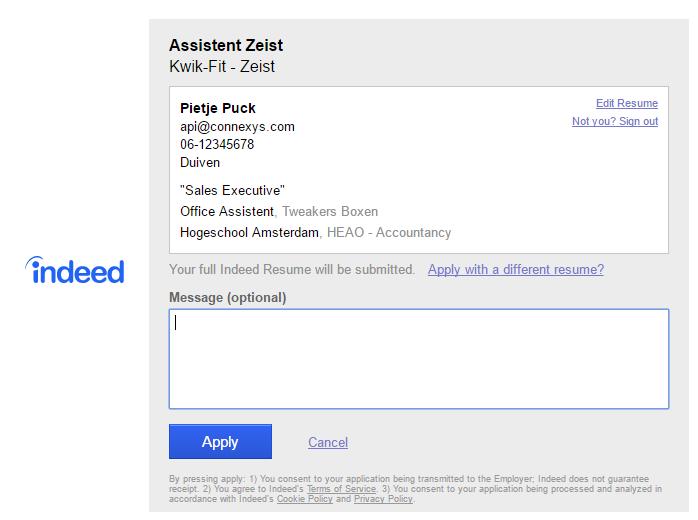 release 3.10: aannametraject, indeed en meer.. – fastforward support